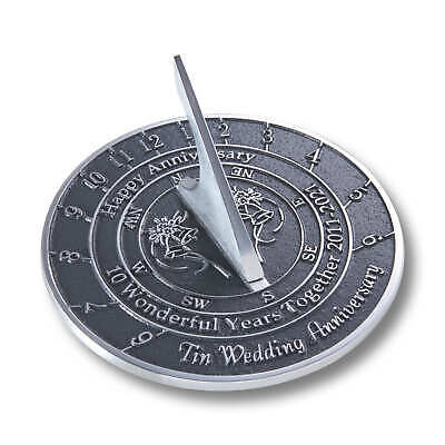 10th Tin 2021 Wedding Anniversary Sundial Gift By The Metal Foundry • 42.95£