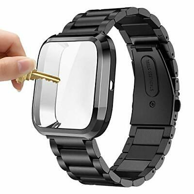 $ CDN41.96 • Buy Maxjoy Compatible With Fitbit Versa Bands, Versa 2 Metal Band Large Stainless