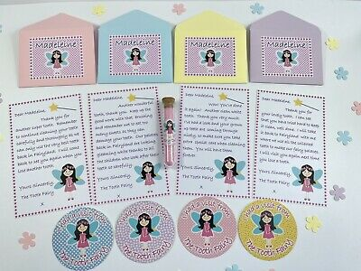 £3.99 • Buy Tooth Fairy Letters, Personalised, Fairy Dust, Fairy Stickers, First Tooth