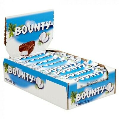 Bounty Chocolate Bars Coconut Coverd Milk Chocolate 24X57g BB 04/04/21 • 12.99£