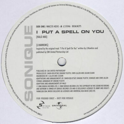 Sonique - I Put A Spell On You (12 ) • 4£