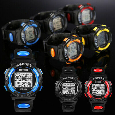 $ CDN4.10 • Buy Men Sports Waterproof Round Case Digital Wristwatch Electronic Watch Efficient