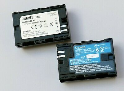 Two LP E6 Batteries. One Canon & One Calumet. • 5.99£