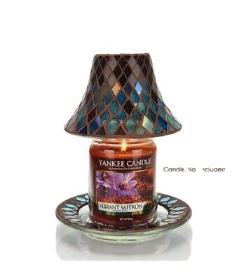 Official Yankee Candle Autumn Mosaic SMALL Shade & Tray Set  • 19.50£