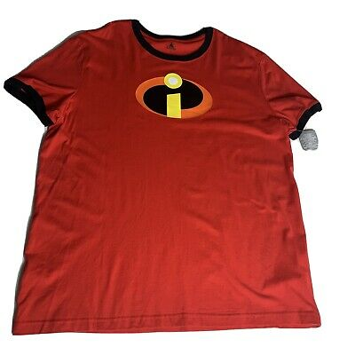Disney Store The Incredibles 2 Womens T-Shirt Tee Plus Size 2XL Red Ringer  • 14.30£