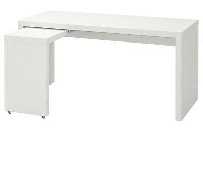 IKEA MALM DESK WITH PULL OUT PANEL 151x65cm *BRAND NEW* • 100£