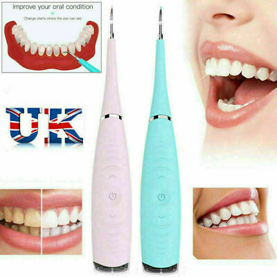 Electric Sonic Dental Scaler Tartar Calculus Plaque Remover Teeth Stains Cleaner • 7.69£