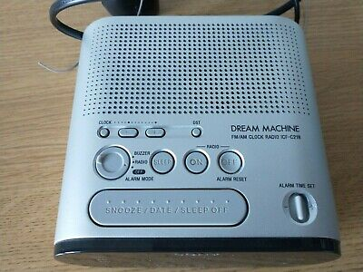 Sony Icf-c218 Dream Machine Fm/am Radio Alarm Clock - Free Post • 7.49£