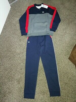 Boy's Lacoste Sport Tracksuit RRP £160 14 Years Skiny Bottoms  • 80£