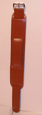 £7.99 • Buy Tan Military Style Leather Watch Strap 20mm. NEW