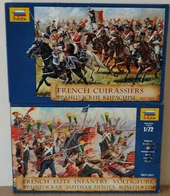 2 Boxes Of Zvezda 'French' 1:72 Scale Unpainted Figures  NEW • 18£