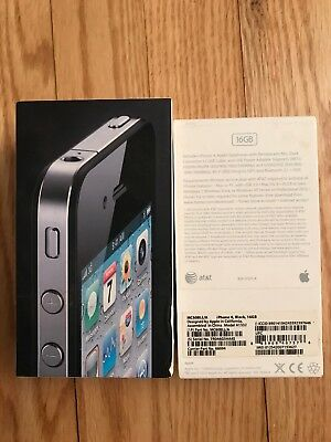 £5.82 • Buy IPhone 4 Box Empty - No Phone, No Accessories Black 16GB Box Manual And Stickers
