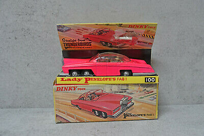 Dinky Toy No.100 Lady Penelope's Fab 1 Fluorescent Pink Issue VNM Boxed RARE  • 1,575£