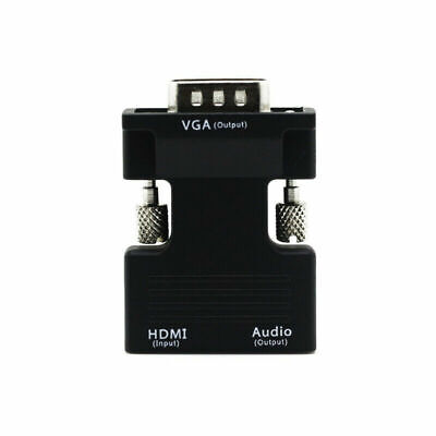 1080p HDMI Female To VGA Male With Audio Output Cable Converter Adapter Lead UK • 3.44£