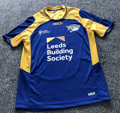 ISC Leeds Rhinos Rugby League Training Shirt Top 2018 Adults Men's Size Small S • 20£
