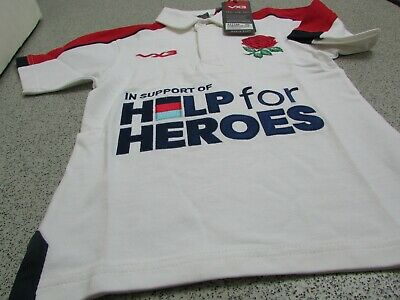 £14.99 • Buy VX3 Help For Heroes England Rugby Kid's Polo Shirt 2019/20 (Embroidered Badge)