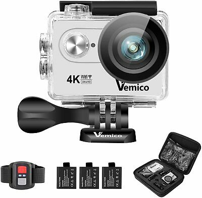Vemico 4K Action Camera Ultra HD WiFi Waterproof Underwater 2.4G Remote Control  • 25.99£