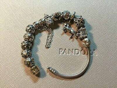 AU56 • Buy Pandora Two Tone Letter Charms CDIOY, Frog, Swan, Bird Cage, Castle And Bracelet