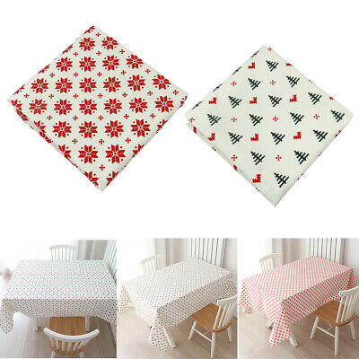 Table Cloth Home Kitchen Restaurant Christmas Decor Dish Washing Dining Room • 6.30£