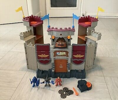Fisher Price Imaginext Castle - Lights & Sounds - Figures And Cannon • 10£