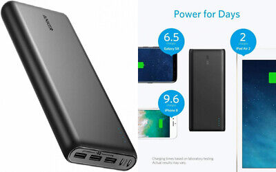 AU92.74 • Buy Anker Power Bank, PowerCore 26800mAh Portable Charger With Dual Input Black