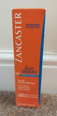 NEW LANCASTER Sun Beauty Dry Oil Fast Tan Optimiser Body SPF50 150ml • 5£