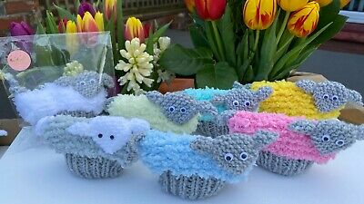 Assorted Hand Knitted Creme Egg Easter Lamb Covers With Gift Bag-Choose A Colour • 2.65£