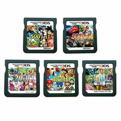 AU25.77 • Buy 208/482/500/502/520 In1 Video Games Cartridge Cards For DS NDS 2DS 3DS NDSI NDSL