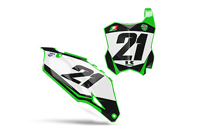 $59.95 • Buy New Dirtx Industries Monster Blk Custom Number Plate Graphics Kx 85 125 250 450