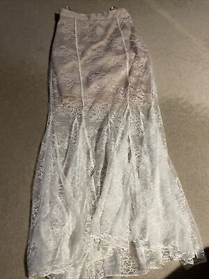 AU45 • Buy Alice Mccall Especially White Lace Skirt Sz 4