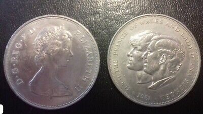 1981 HRH The Prince Of Wales And Lady Diana Spencer Coin • 7£