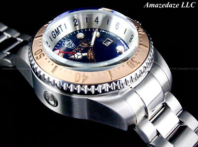 $ CDN132.92 • Buy Invicta Reserve Men 52mm Hydromax Swiss GMT Stainless St. BLUE DIAL1000 M Watch