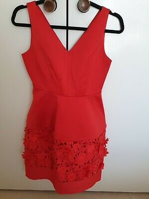 AU105 • Buy Forever New Stunning Red Dress Size 8 NEW
