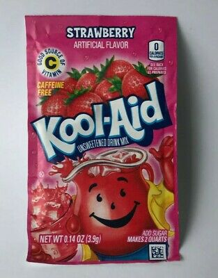 10×Kool Aid STRAWBERRY Flavour Drink Sachets US Import UK Seller 3.9g  • 5.99£