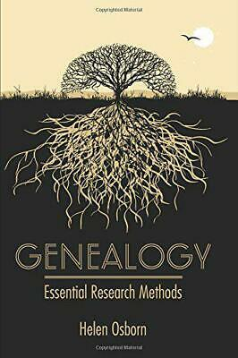 Genealogy: Essential Research Methods By Helen Osborn, NEW Book, FREE & FAST Del • 14.04£