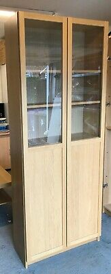 Tall Ikea Billy Bookcase With Half Glass Doors. • 24.99£