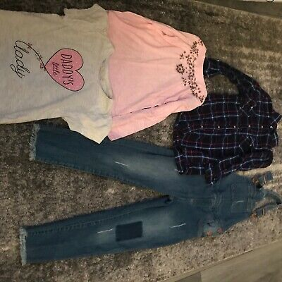 Girls Dungarees , Shirt And Tops Bundle, Age6-7 Years • 10£