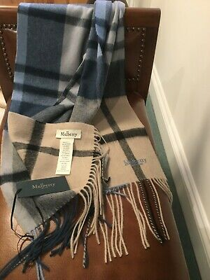 Mulberry 100% Lambswool New Check Scarf  • 37£