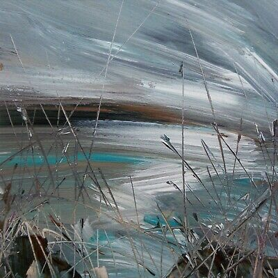 Sea Grasses, Coastal / Landscape Art. Original Acrylic Painting. • 0.99£