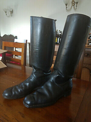 Original WW2 German Military Leather Officers Boots. One Owner From New. • 102£