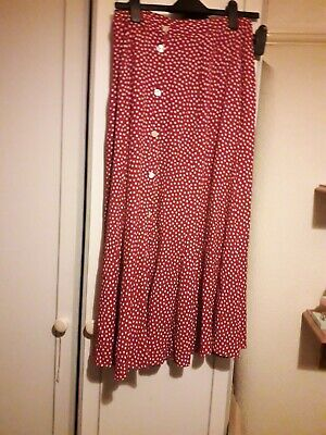 Womens Red And White Polka Dot Size 12 Next Dress • 15£