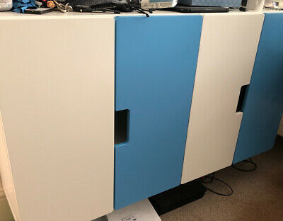 IKEA Wall Mounted Units (White & Blue) (EXCELLENT CONDITION!) • 8£