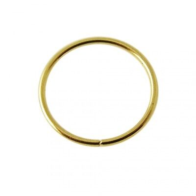 AU12.99 • Buy 9K Solid Yellow Gold Seamless Continuous Nose Hoop Ring 22ga/6mm