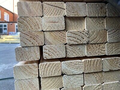 """£4.20 • Buy 1 X 3x2"""" CLS Timber - Untreated - 2.4m Length - (63mm X 38mm) - Multi Buy Avail"""