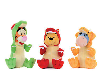 £9.99 • Buy Brand New Disney Winnie The Pooh Eeyore Tigger Soft Toys In Dinosaur Outfits 12i