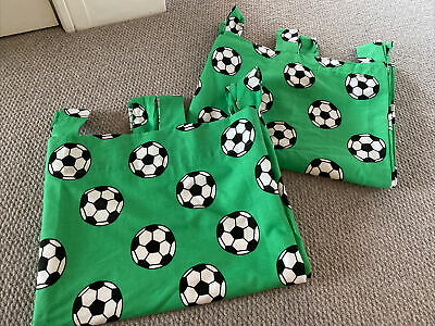 """George At Asda Football Bedroom Curtains Tab Top 60"""" X 54"""" Excellent Condition • 5£"""