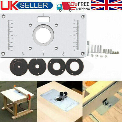 Aluminium Router Table Insert Plate Woodworking Benches Wood Engraving Tools UK • 13.99£