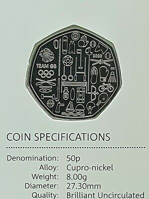 2020 Team GB BU 50p Coin - Brilliant Uncirculated Fifty Pence - Tokyo Olympics  • 33.99£