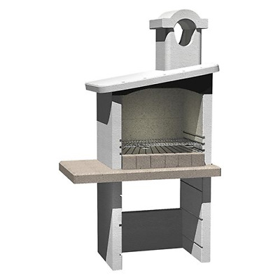 £866.31 • Buy Enna Barbecue Masonry Refractory Concrete 114x64x197.5 Cm In Charcoal Or Wood
