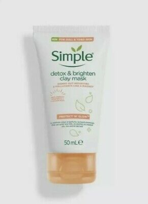 Simple  Clay Mask Protect 'n' Glow Detox & BrightenFor Dull And Tired Skin 50ml • 4.95£